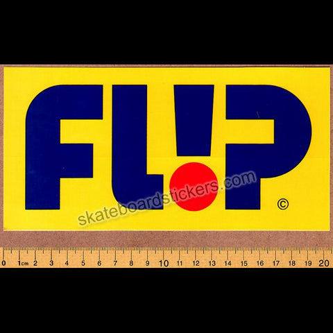 Flip Odyssey Skateboard Sticker - Big Yellow
