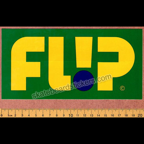 Flip Odyssey Skateboard Sticker - Big Green