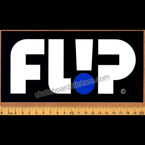 Flip Odyssey Skateboard Sticker - Big Blue