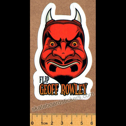 Flip Skateboard Sticker - Geoff Rowley