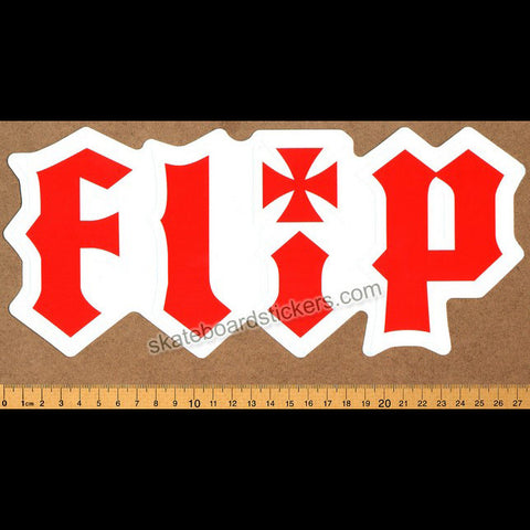 Flip HKD Skateboard Sticker - Large - SkateboardStickers.com