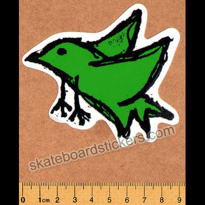 Foundation Bird Skateboard Sticker - Dark Green (official reissue by Dear Skating