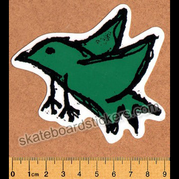 Foundation Bird Skateboard Sticker - Dark Green (official reissue by Dear Skating)