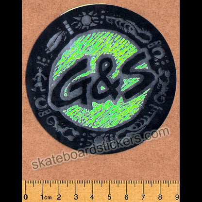 G&S / Gordon & Smith Old School Rare Vintage Skateboard Sticker