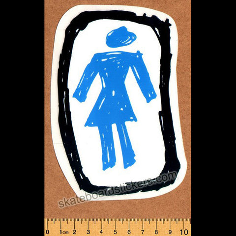 Girl Skateboard Sticker - SkateboardStickers.com