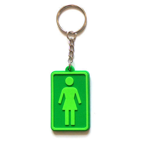 Girl Skateboards Keyring - Green