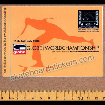 Globe 2000 World Championships Skateboard Sticker