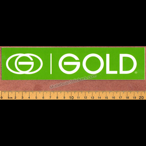 Gold Wheels Skateboard Sticker - Green - SkateboardStickers.com