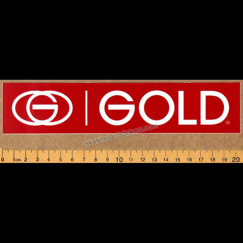 Gold Wheels Skateboard Sticker - Red - SkateboardStickers.com