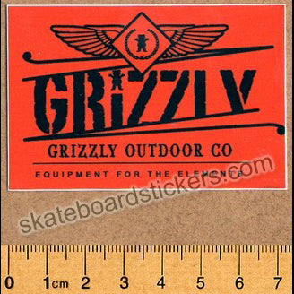 Copy of Grizzly Griptape Skateboard Sticker