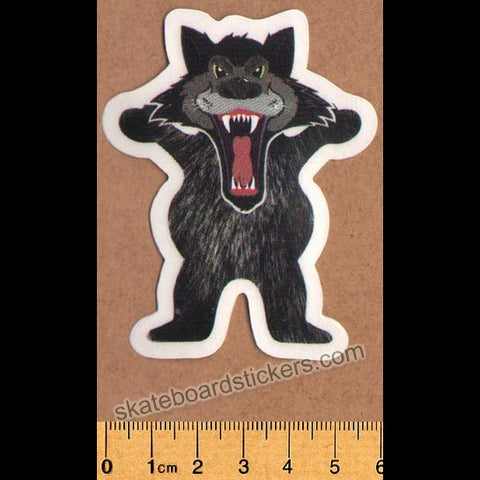Grizzly Griptape Bear Wolf Skateboard Sticker