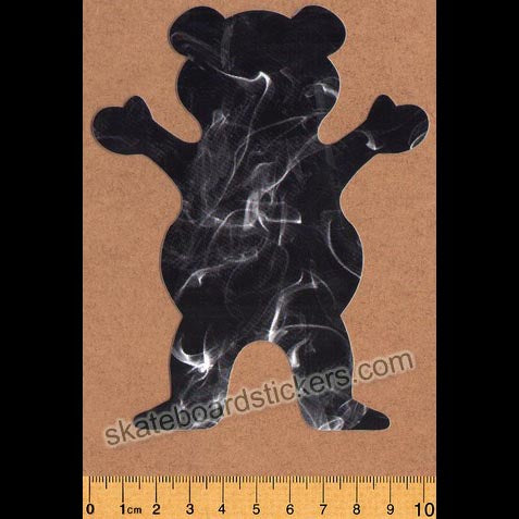 Grizzly Griptape Smoke Fill Bear Skateboard Sticker