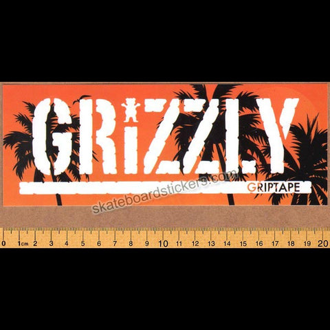Grizzly Griptape Laguna Stamp Skateboard Sticker