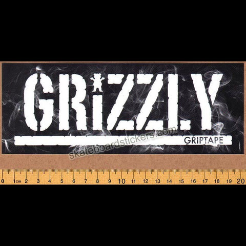 Grizzly Griptape Hot Box Stamp Skateboard Sticker