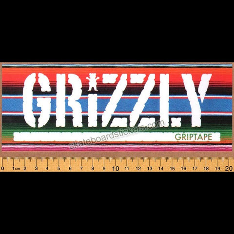 Grizzly Griptape Mexican Blanket Stamp Skateboard Sticker