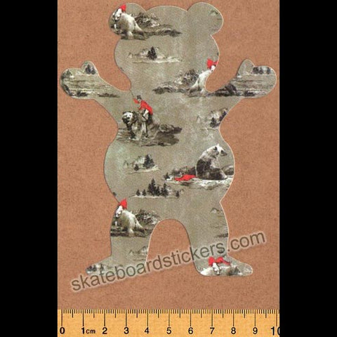Grizzly Griptape Hunting Lodge Bear Skateboard Sticker
