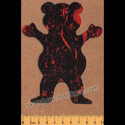 Grizzly Griptape Blood Splatter Bear Skateboard Sticker