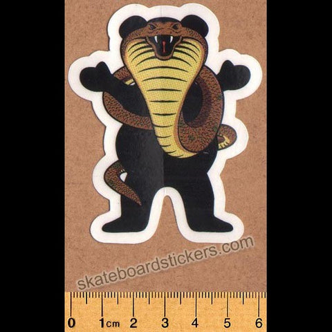Grizzly Griptape Bear Snake Skateboard Sticker