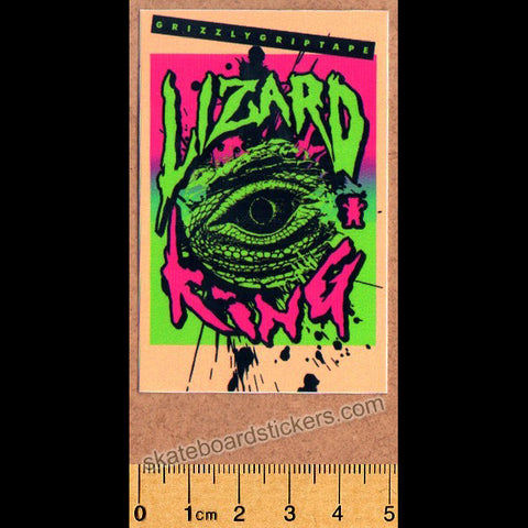 Grizzly Griptape Lizard King Skateboard Sticker