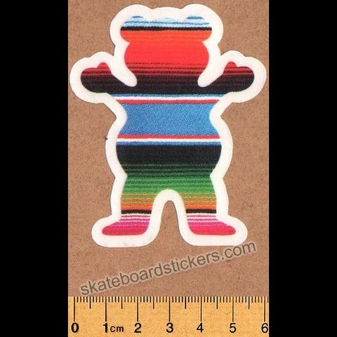 Grizzly Griptape Eli Blanket Bear Skateboard Sticker