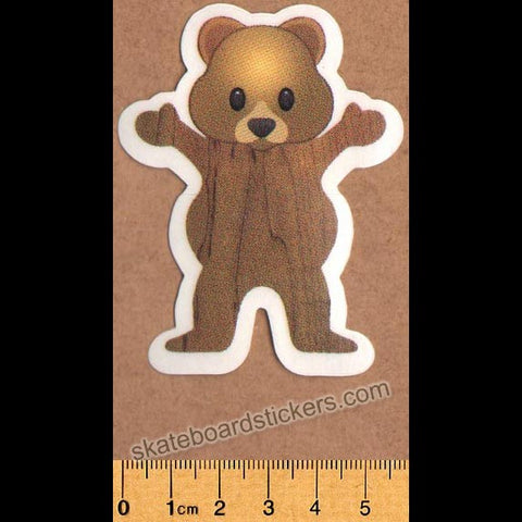 Grizzly Griptape Torey Pudwill Bear Skateboard Sticker