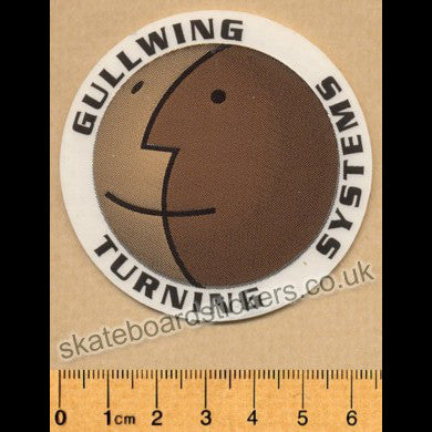 Gullwing Trucks Old School Skateboard Sticker - SkateboardStickers.com