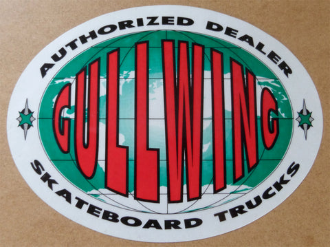 Gullwing Trucks Authorized Dealer Window Skateboard Sticker