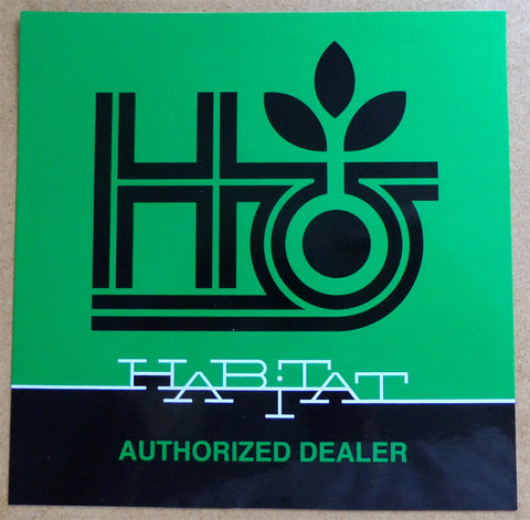 Habitat Authorized Dealer Window Skateboard Sticker
