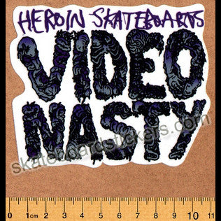 Heroin Skateboard Sticker - Video Nasty - SkateboardStickers.com