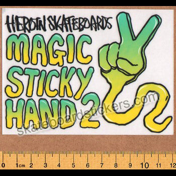 Heroin Skateboard Sticker - Magic Sticky Hand 2
