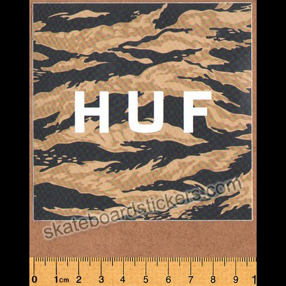 Huf Skateboard Sticker - Camo