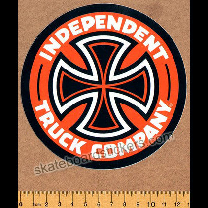 Independent Truck Company Skateboard Sticker - Orange - SkateboardStickers.com