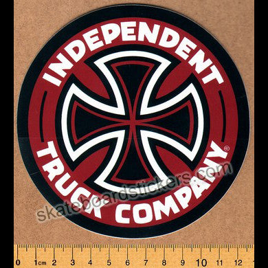 Independent Truck Company Skateboard Sticker - Red - SkateboardStickers.com