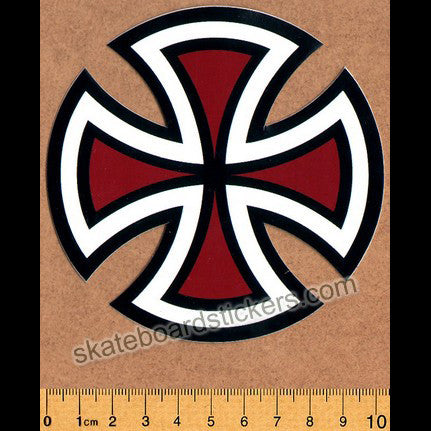 Independent Trucks Cut Cross Skate Sticker - Red - SkateboardStickers.com