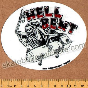 Independent Trucks - Hell Bent Skateboard Sticker - SkateboardStickers.com