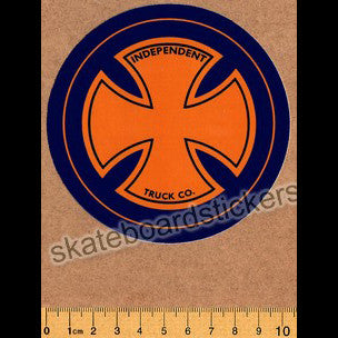 Independent Trucks - Strike Cross Skateboard Sticker - SkateboardStickers.com