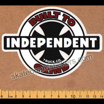 Independent Truck Company Skateboard Sticker - Built To Grind