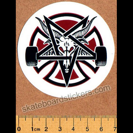 Independent X Thrasher Pentagram Cross Skateboard Sticker