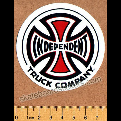 Independent Truck Co Skateboard Sticker - medium white