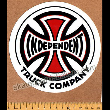 Independent Truck Co Skateboard Sticker - large white