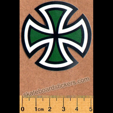 Independent Trucks Cut Cross Skate Sticker - Green Small
