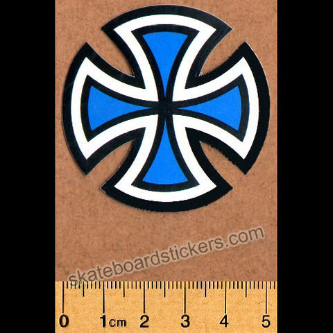 Independent Trucks Cut Cross Skate Sticker - Blue Small