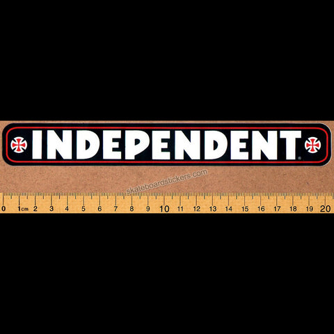 Independent Truck Company Bar Skateboard Sticker - Black