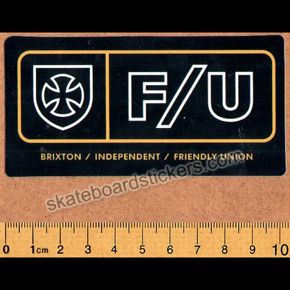 Brixton Clothing X Independent Truck Company Skateboard Sticker