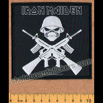 Iron Maiden Sew-on Music Patch: A Matter Of Life And Death - SkateboardStickers.com