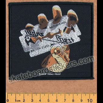 Judas Priest Sew-on Music Patch: British Steel - SkateboardStickers.com