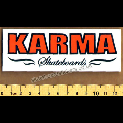 Karma Skateboard Sticker - SkateboardStickers.com