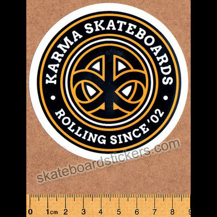 Karma Skateboard Sticker