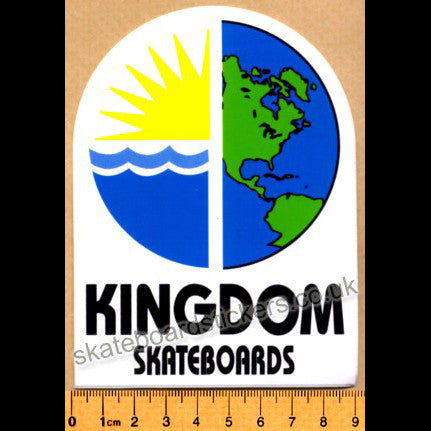 Kingdom Old School Skateboard Sticker - SkateboardStickers.com