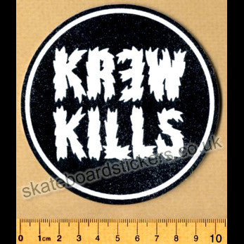 KR3W Skateboard Sticker - SkateboardStickers.com